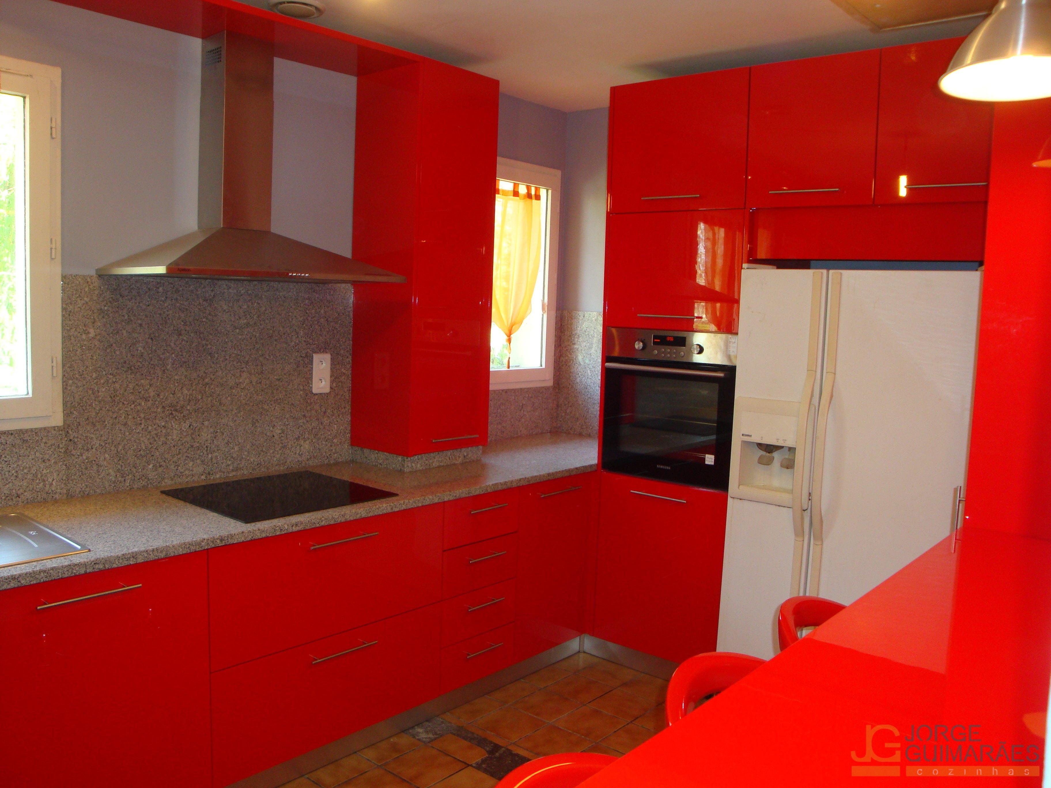 Cozinhas Jorge Guimar Es Cozinhas ~ Cozinha Cinza Com Vermelho
